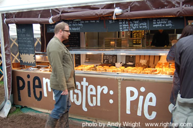 Pieminister at the 2007 Green Man Festival, in Brecon, Wales.