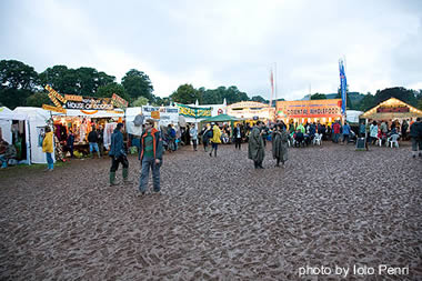 Iolo Penri photographs the mud at the 2007 Green Man Festival, in Brecon, Wales.