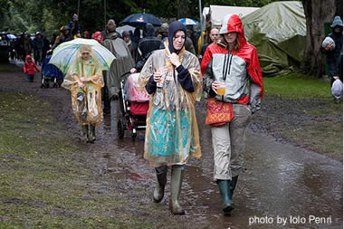 Rain at the 2007 Green Man Festival, in Brecon, Wales.