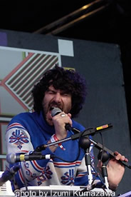 Gruff Rhys onstage at the 2007 Green Man Festival.