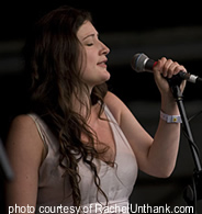 Rachel Unthank onstage at the 2007 Green Man Festival.