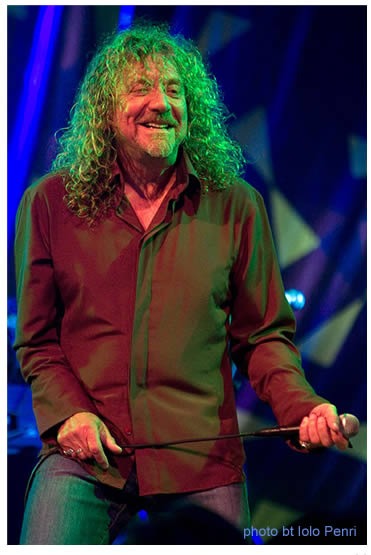 Robert Plant onstage at the 2007 Green Man Festival.