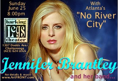 Jennifer Brantley is coming to Barking Legs June 25th